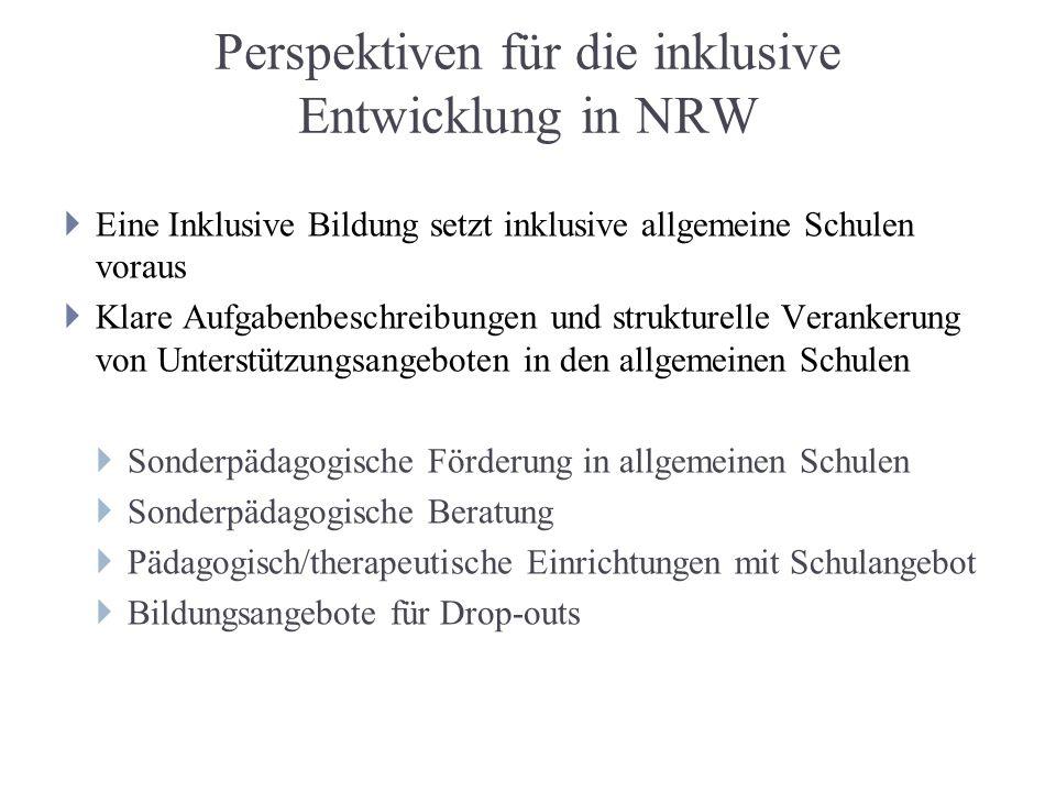 Perspektiven für die inklusive Entwicklung in NRW