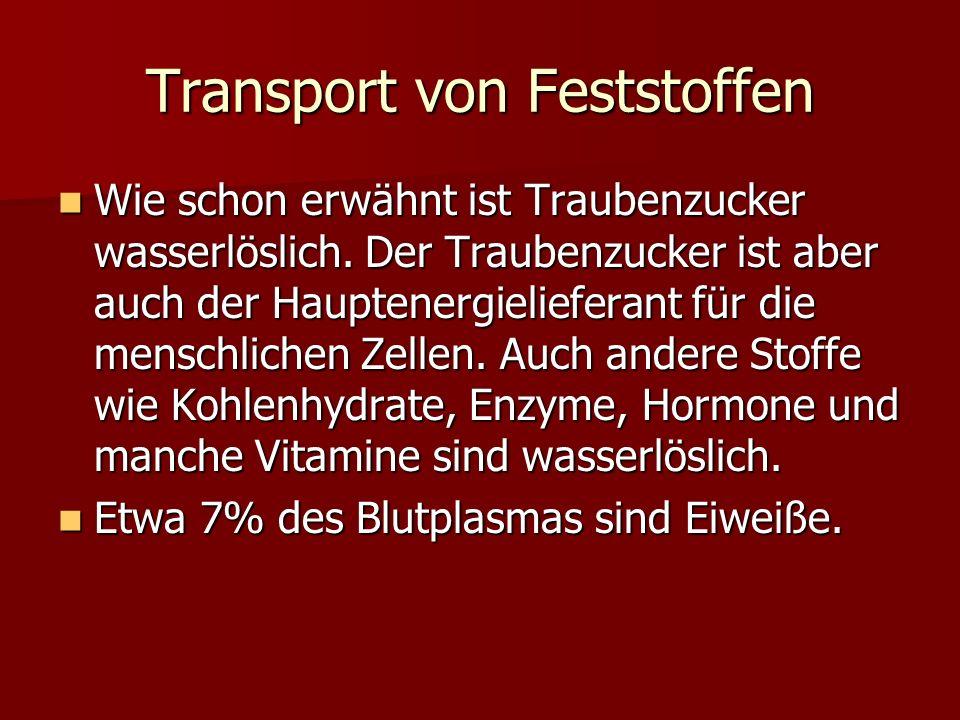Transport von Feststoffen