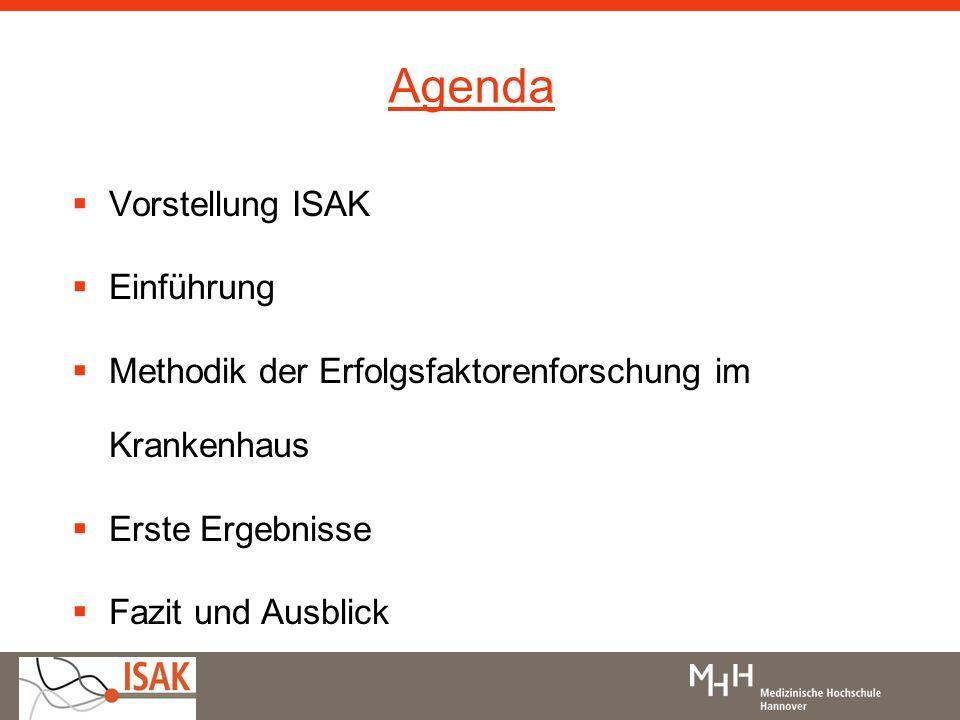 Agenda Vorstellung ISAK Einführung