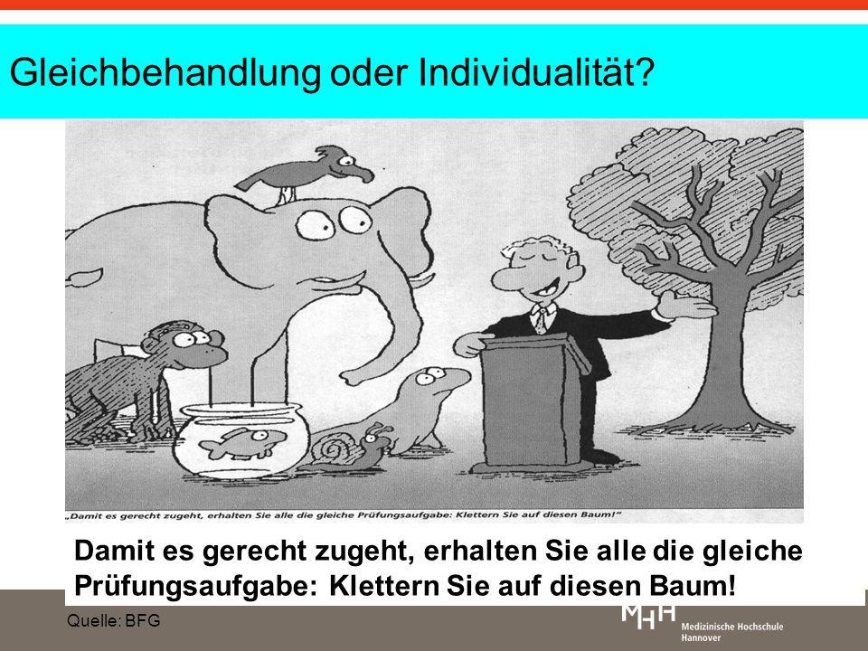 Gleichbehandlung oder Individualität