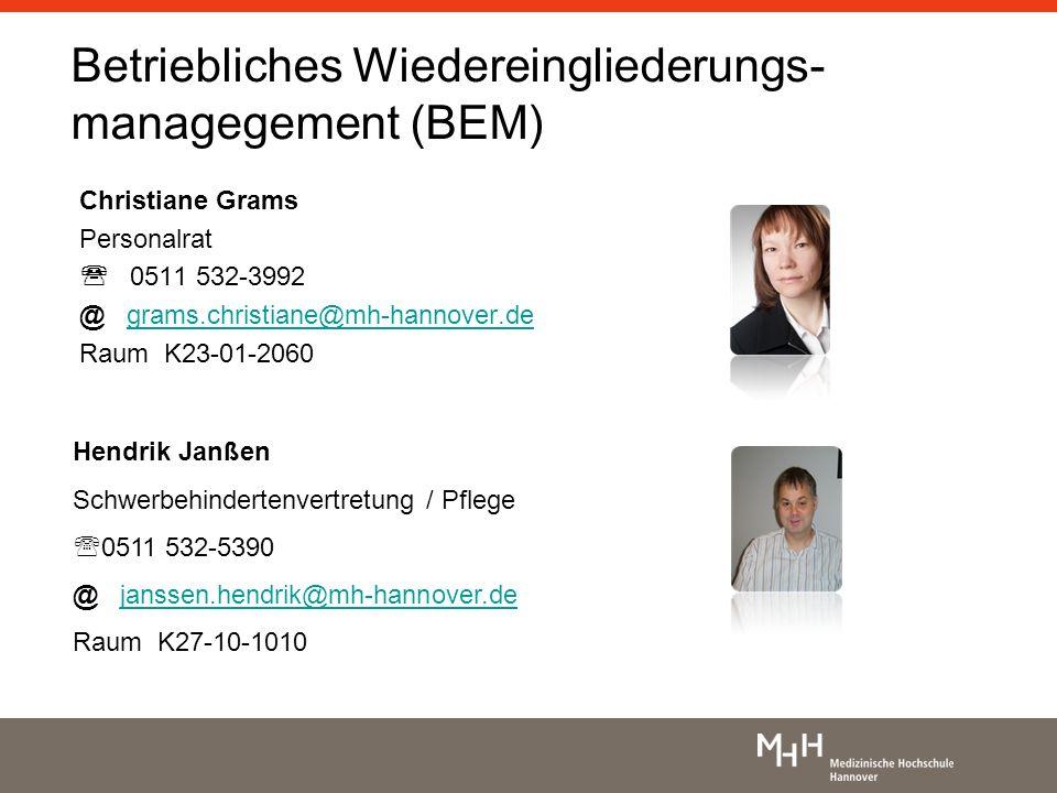 Betriebliches Wiedereingliederungs-managegement (BEM)