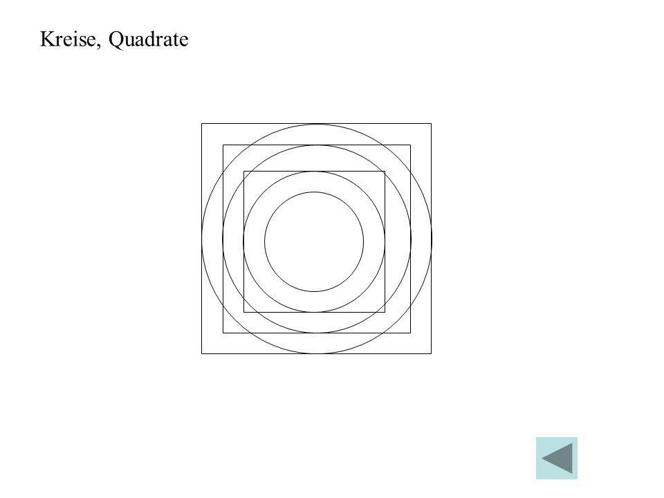 Kreise, Quadrate