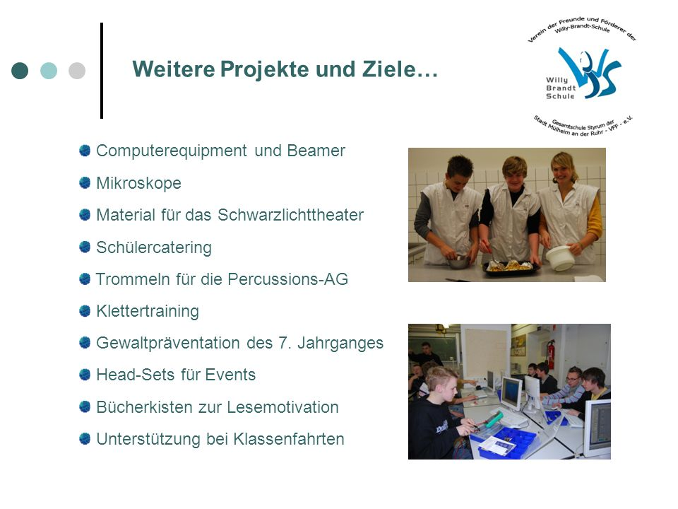 Weitere Projekte und Ziele…