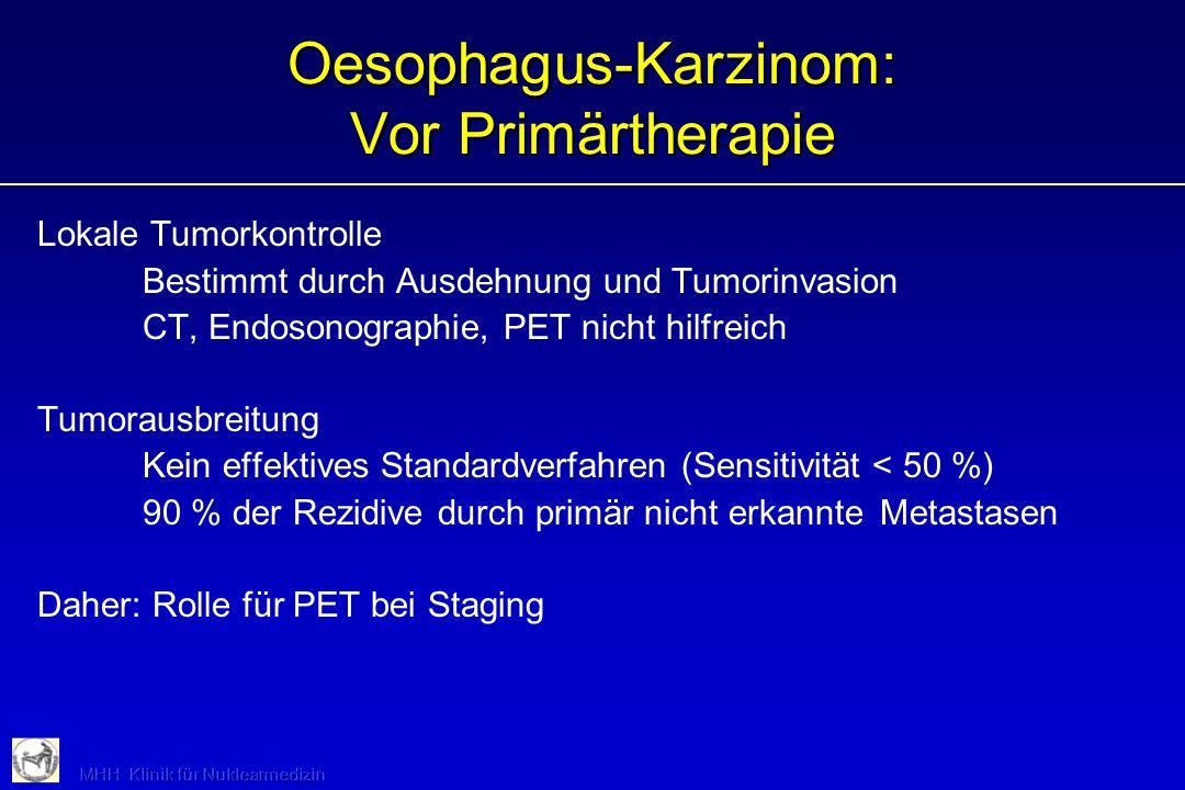 Oesophagus-Karzinom: Vor Primärtherapie
