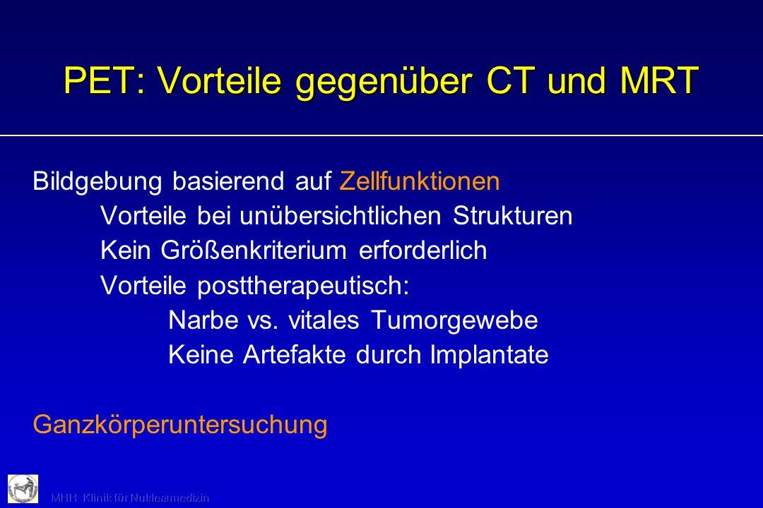 PET: Vorteile gegenüber CT und MRT