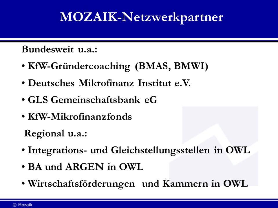MOZAIK-Netzwerkpartner