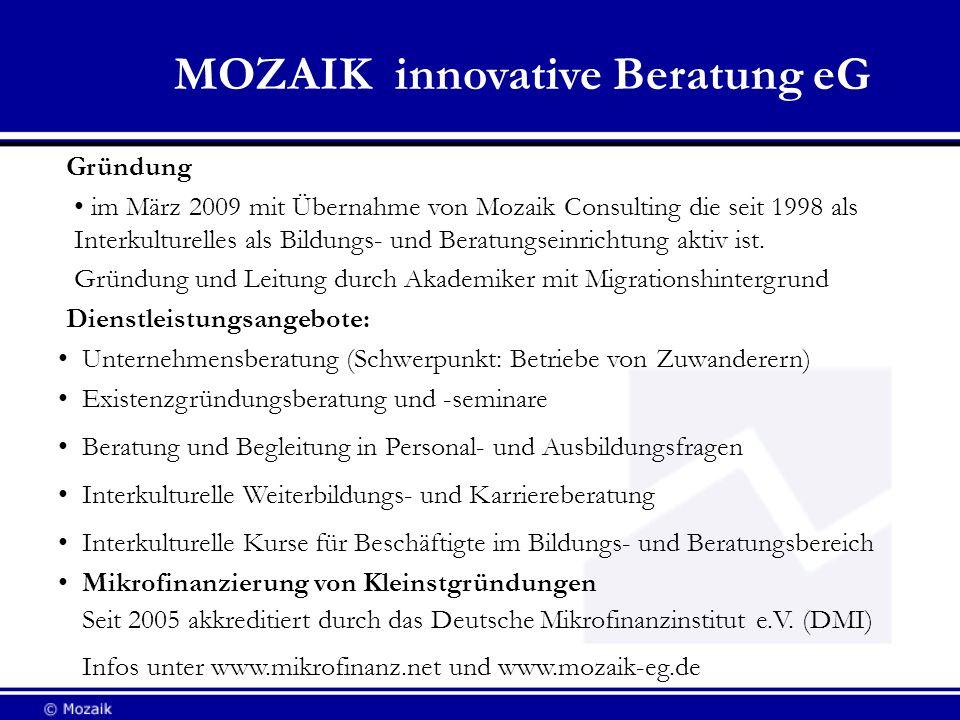 MOZAIK innovative Beratung eG
