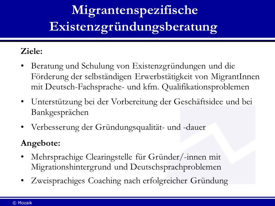 Migrantenspezifische Existenzgründungsberatung