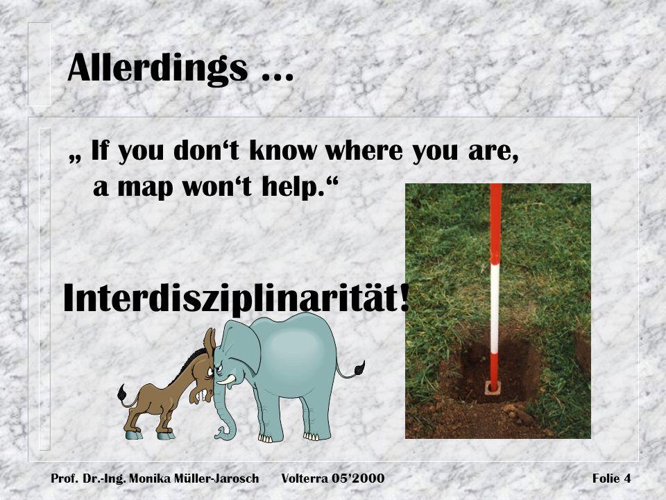 Interdisziplinarität!