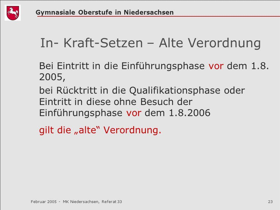 In- Kraft-Setzen – Alte Verordnung