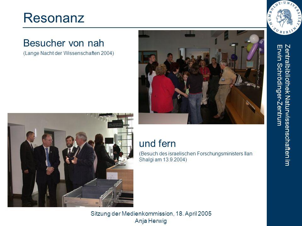 Sitzung der Medienkommission, 18. April 2005