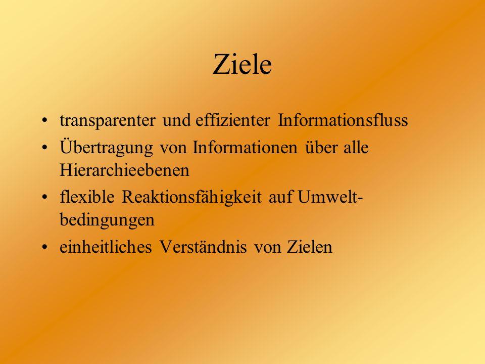 Ziele transparenter und effizienter Informationsfluss