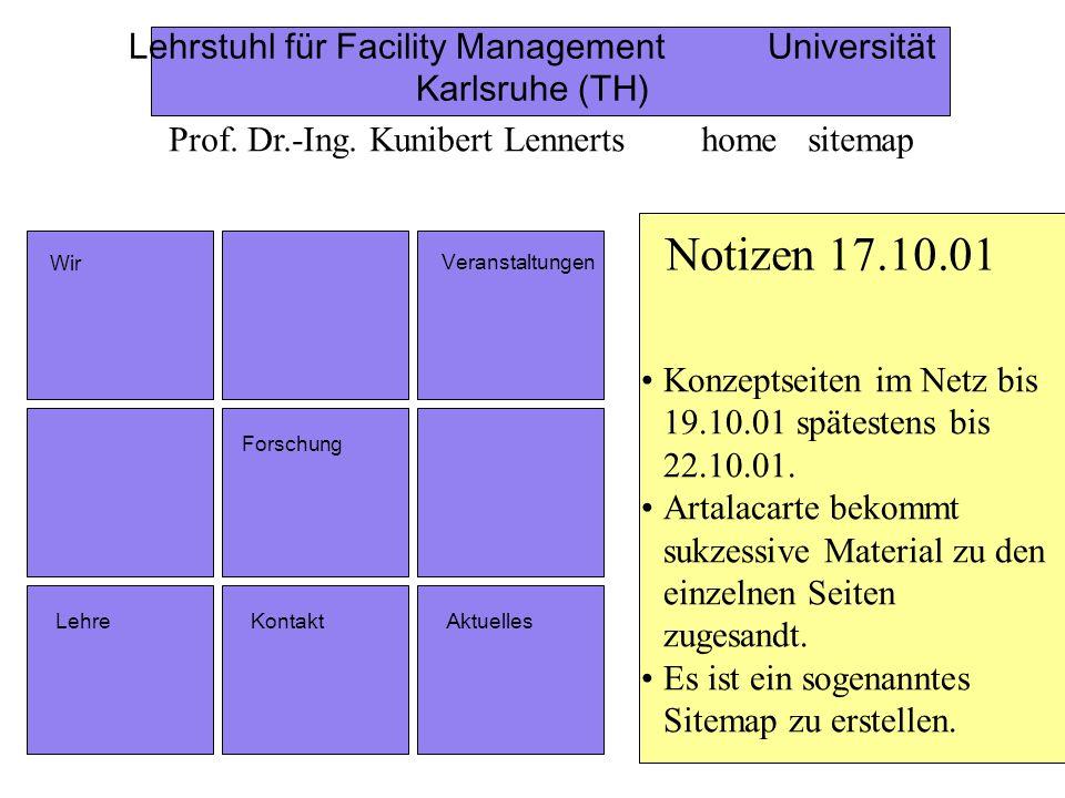 Lehrstuhl für Facility Management Universität Karlsruhe (TH)