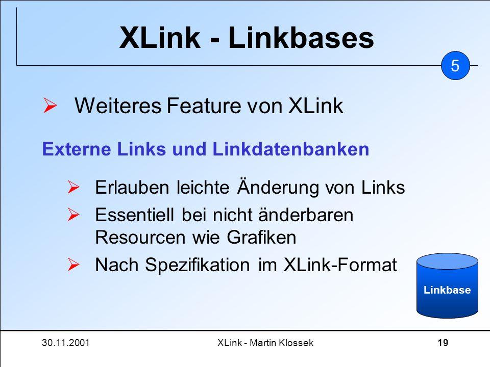 XLink - Linkbases Weiteres Feature von XLink