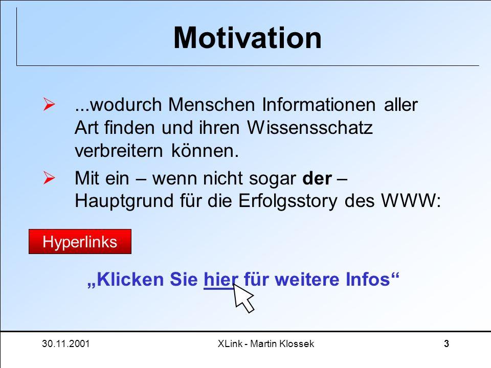 Motivation...wodurch Menschen Informationen aller Art finden und ihren Wissensschatz verbreitern können.