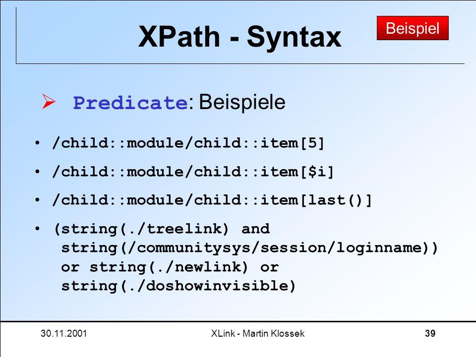 XPath - Syntax Predicate: Beispiele Beispiel