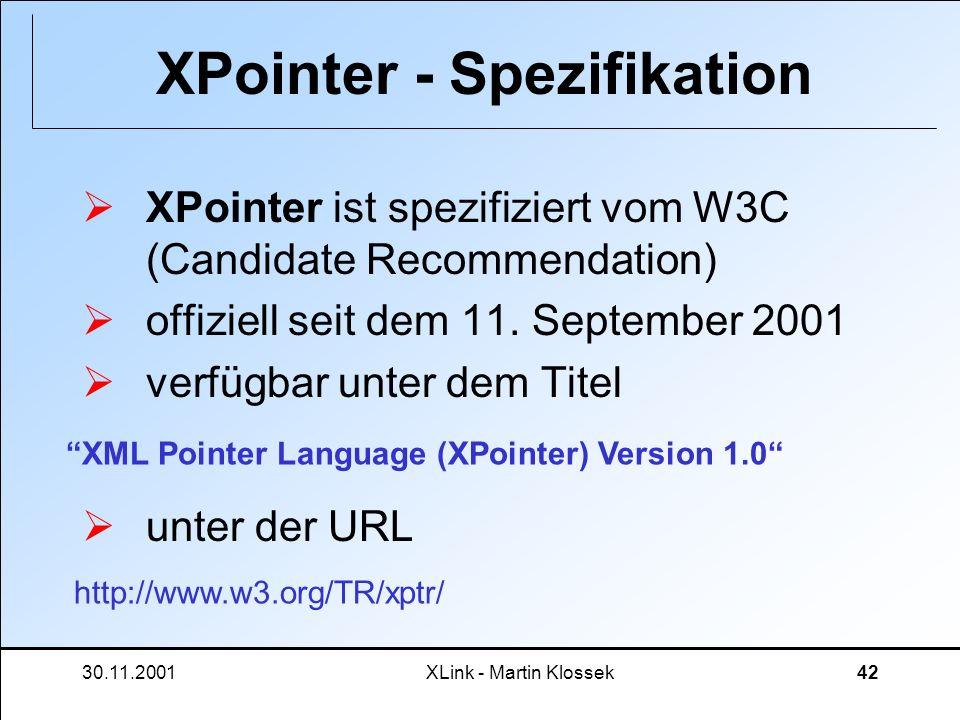 XPointer - Spezifikation