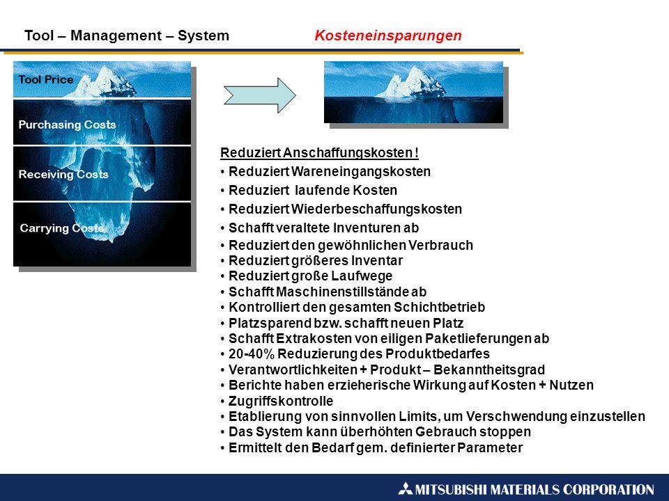 Tool – Management – System Kosteneinsparungen