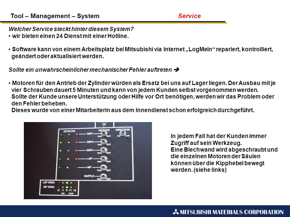 Tool – Management – System Service