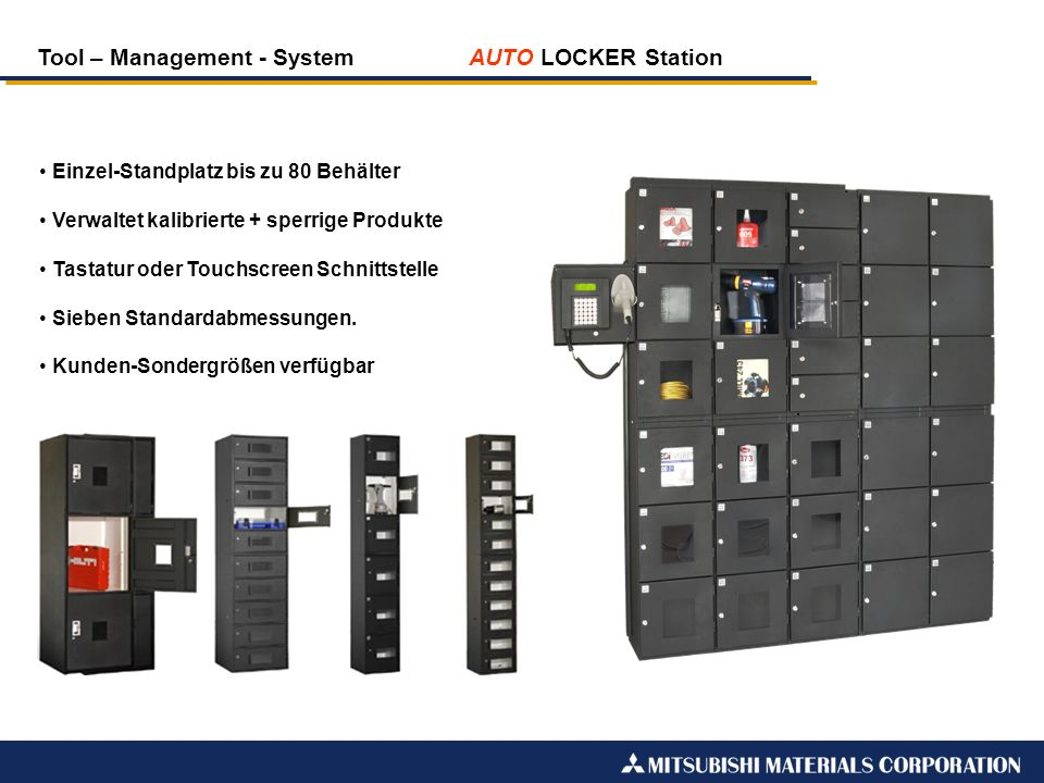 Tool – Management - System AUTO LOCKER Station