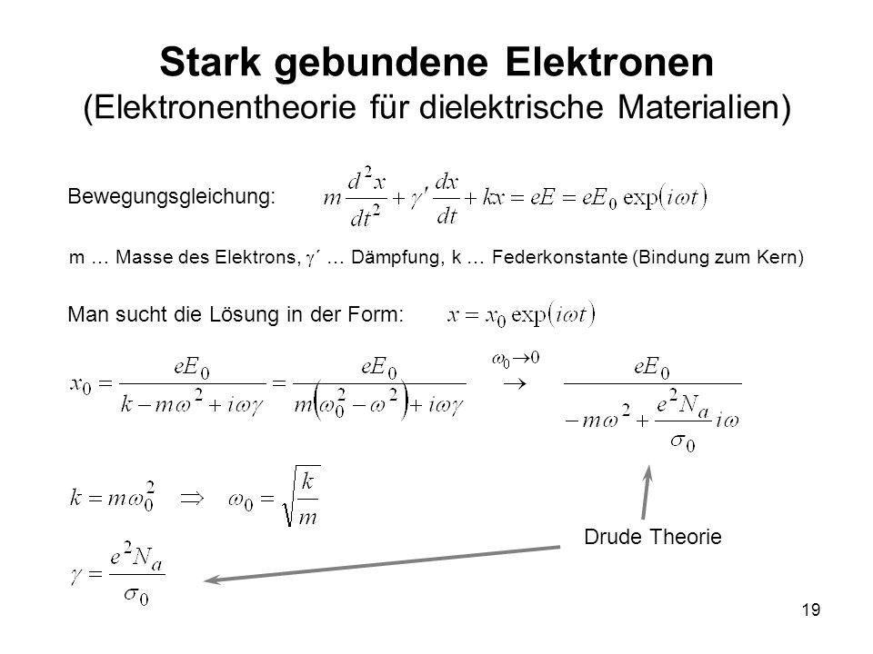 Stark gebundene Elektronen (Elektronentheorie für dielektrische Materialien)