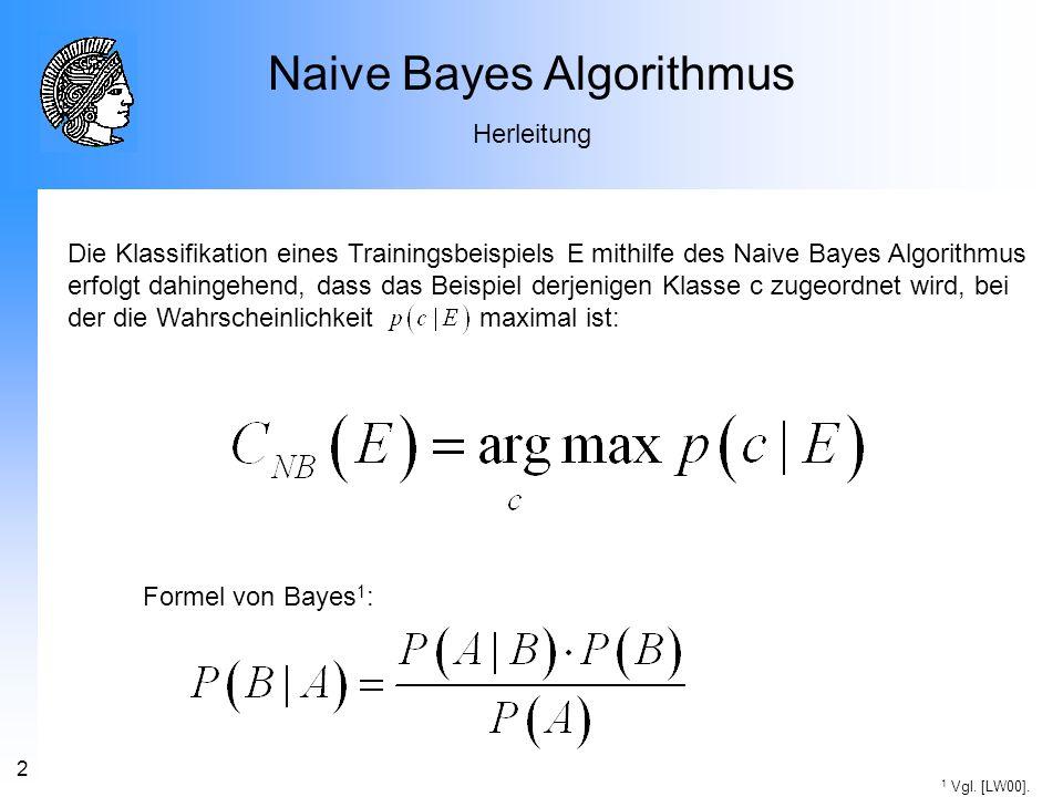 Naive Bayes Algorithmus