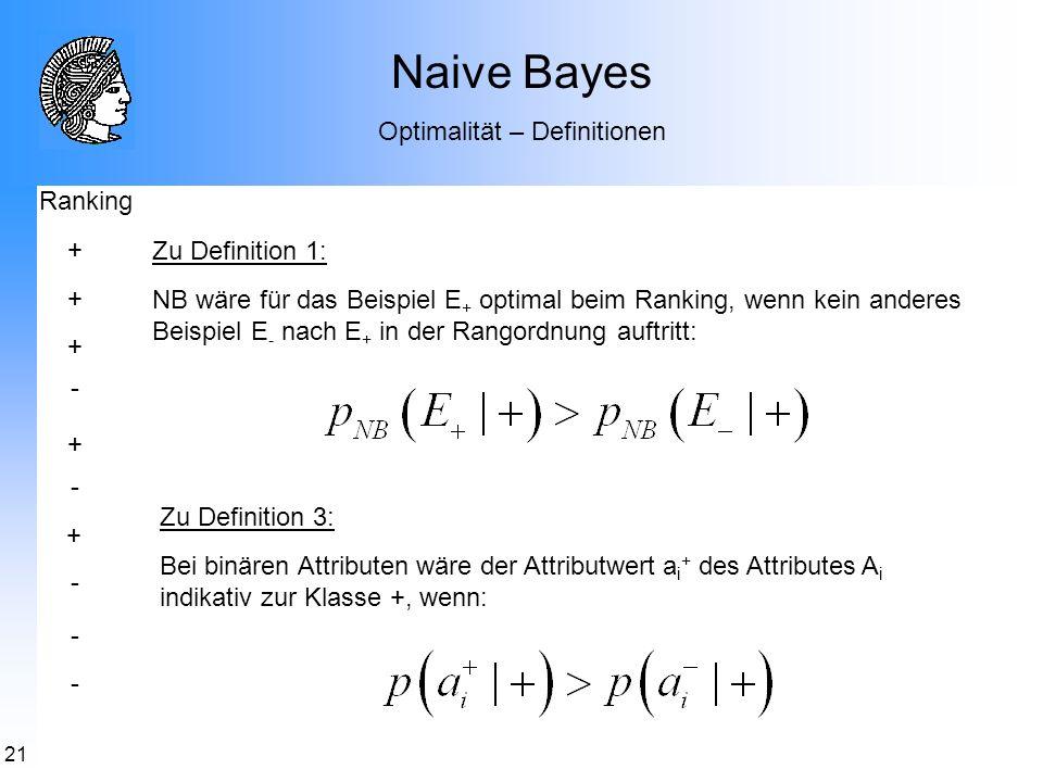 Optimalität – Definitionen