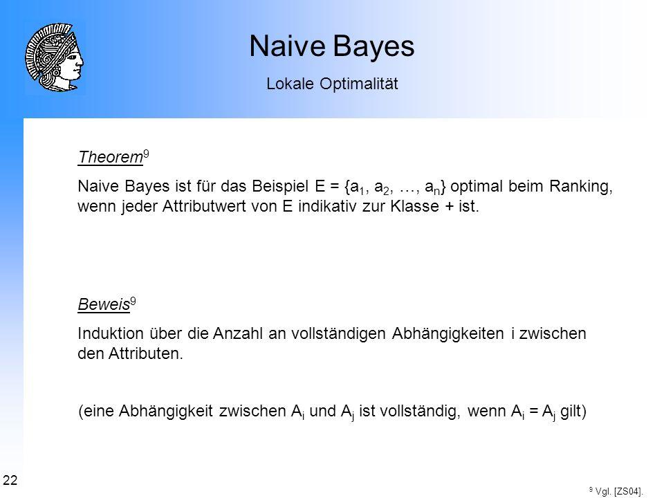 Naive Bayes Lokale Optimalität Theorem9