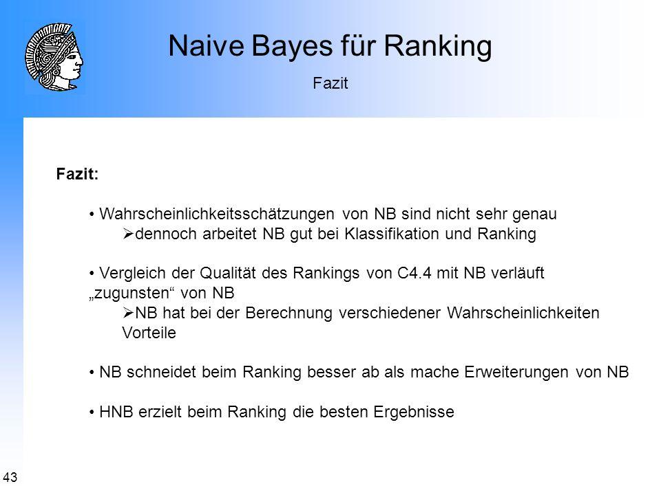 Naive Bayes für Ranking
