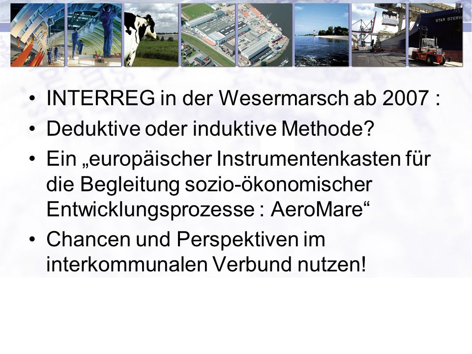 INTERREG in der Wesermarsch ab 2007 :