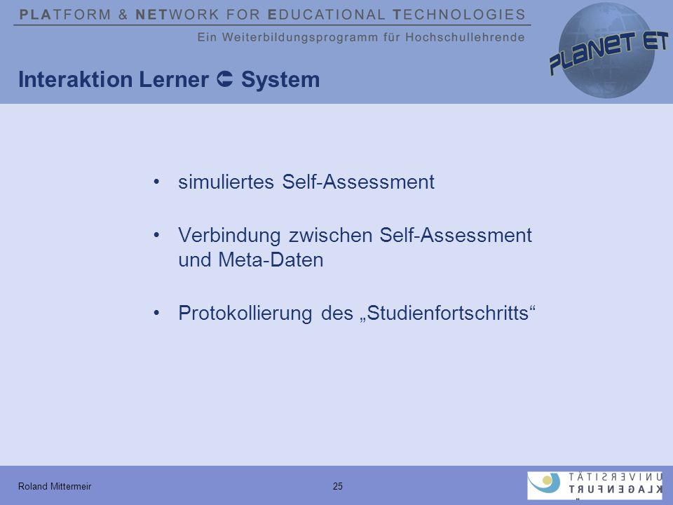 Interaktion Lerner  System