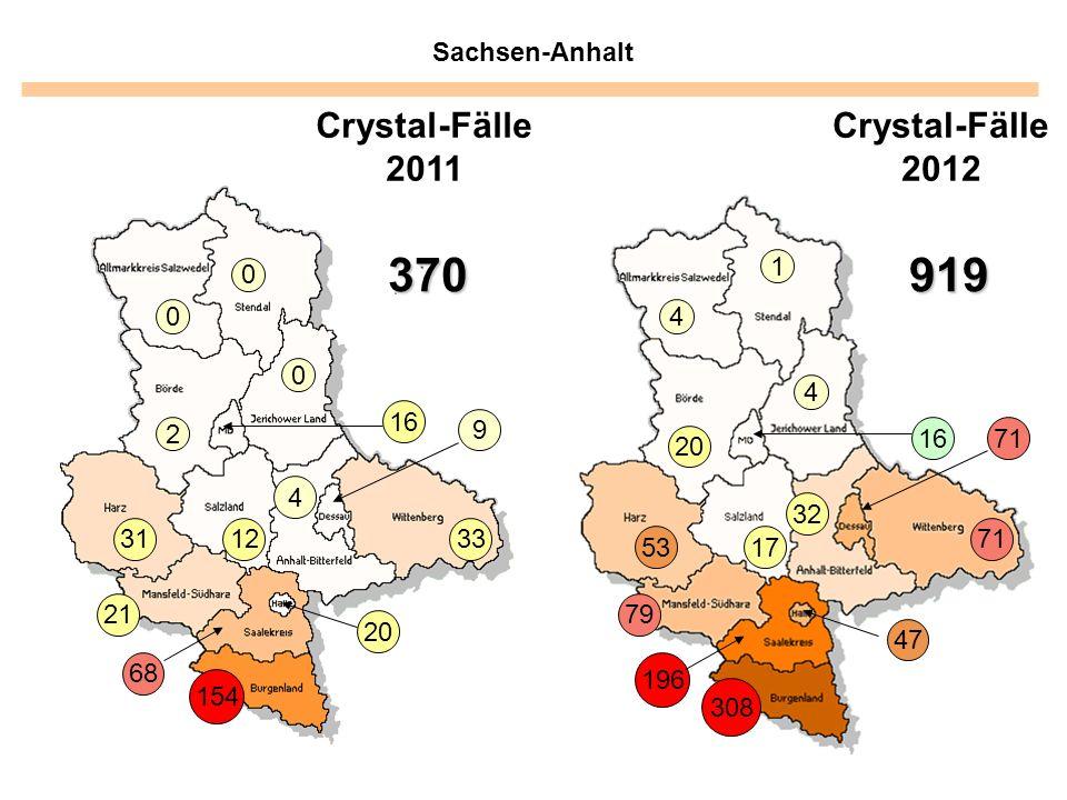 370 919 Crystal-Fälle 2011 Crystal-Fälle 2012 Sachsen-Anhalt 1 4 4 16