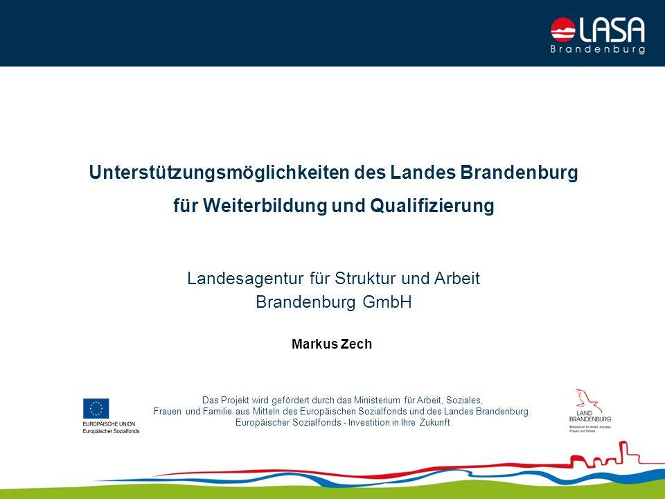 Unterstützungsmöglichkeiten des Landes Brandenburg