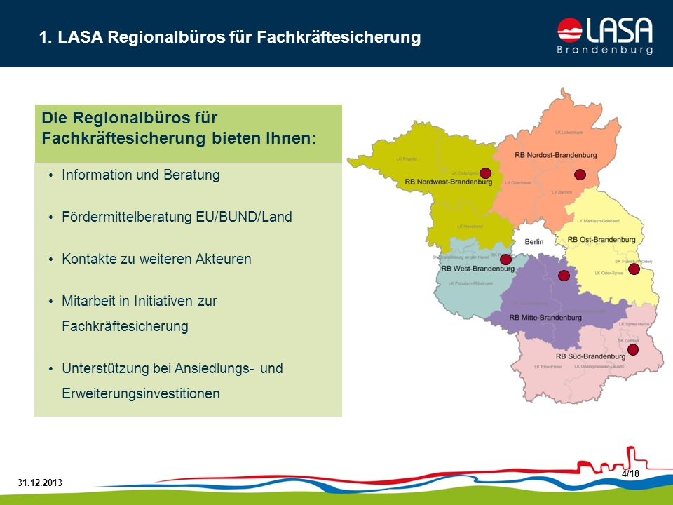 1. LASA Regionalbüros für Fachkräftesicherung
