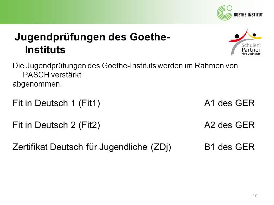 Jugendprüfungen des Goethe-Instituts