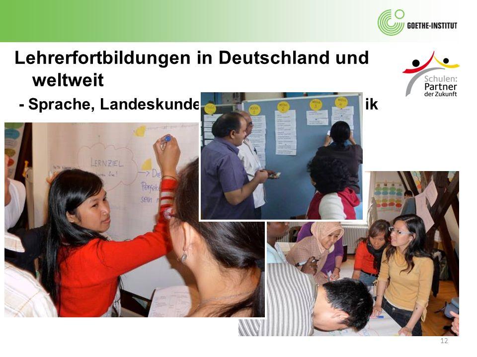 Lehrerfortbildungen in Deutschland und weltweit