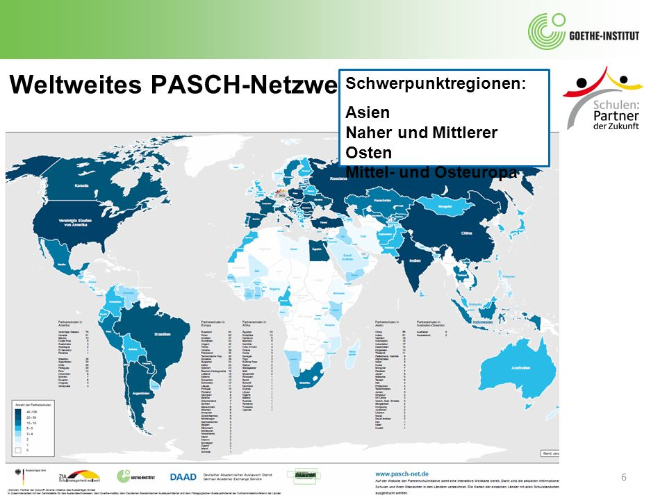 Weltweites PASCH-Netzwerk