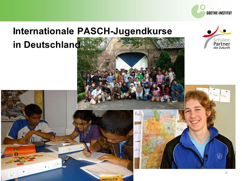 Internationale PASCH-Jugendkurse in Deutschland