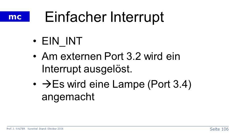 Einfacher Interrupt EIN_INT