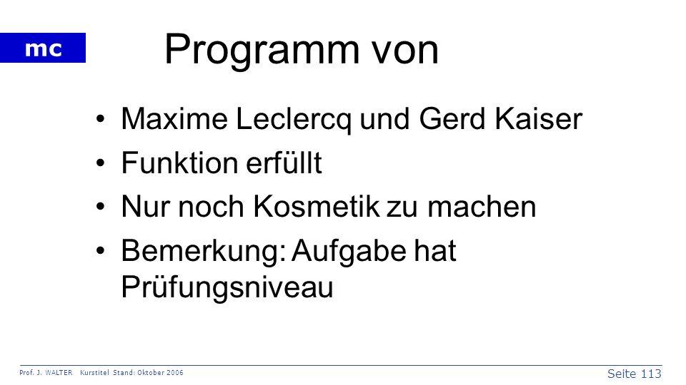 Programm von Maxime Leclercq und Gerd Kaiser Funktion erfüllt