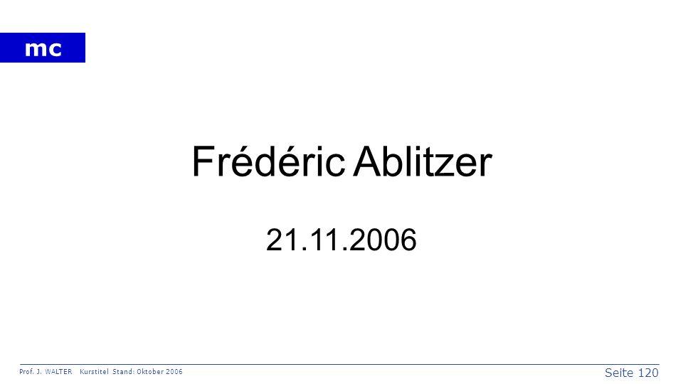 Frédéric Ablitzer 21.11.2006