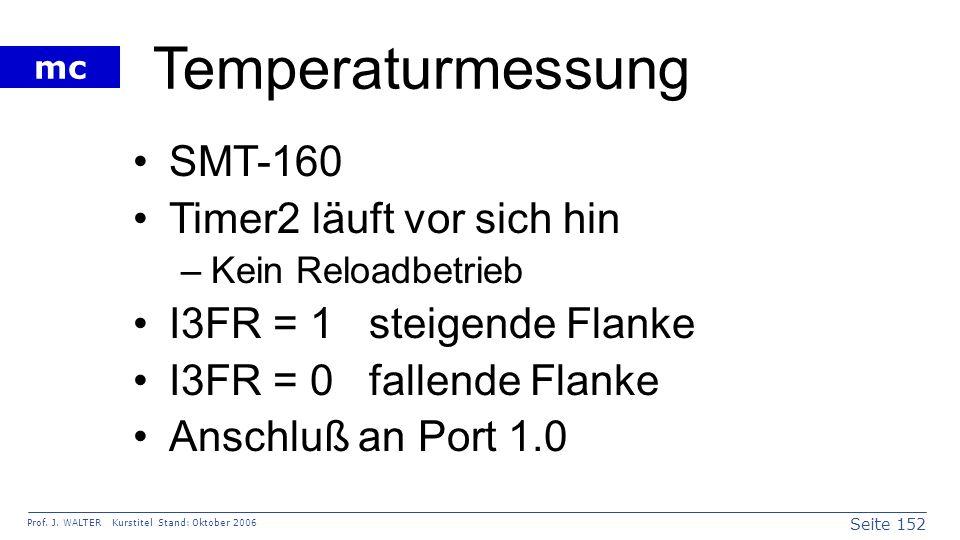 Temperaturmessung SMT-160 Timer2 läuft vor sich hin