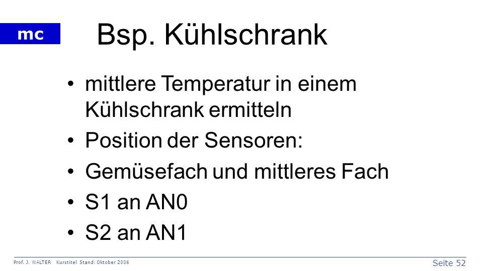Bsp. Kühlschrank mittlere Temperatur in einem Kühlschrank ermitteln