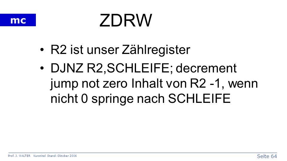 ZDRW R2 ist unser Zählregister