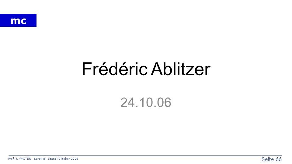 Frédéric Ablitzer 24.10.06