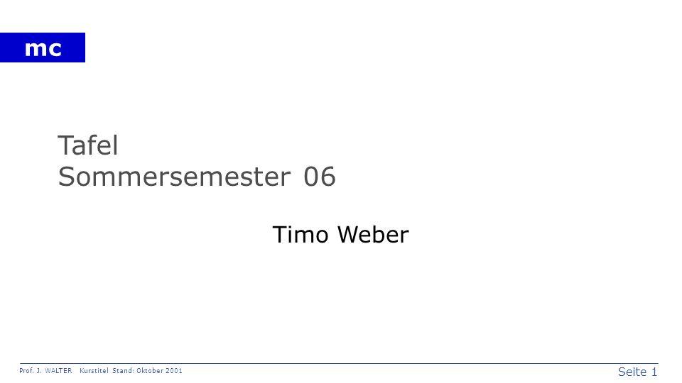 Tafel Sommersemester 06 Timo Weber