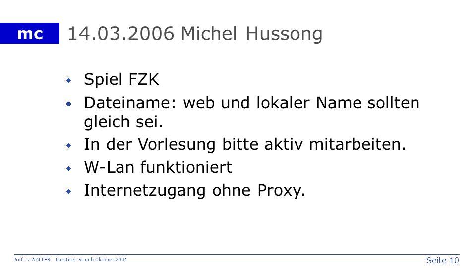 14.03.2006 Michel Hussong Spiel FZK