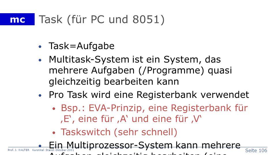 Task (für PC und 8051) Task=Aufgabe