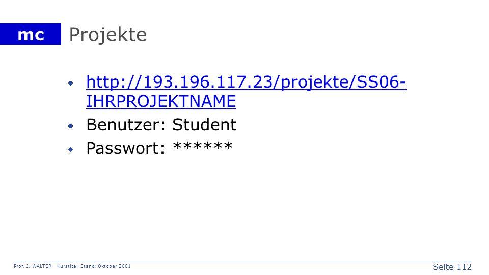 Projekte http://193.196.117.23/projekte/SS06-IHRPROJEKTNAME
