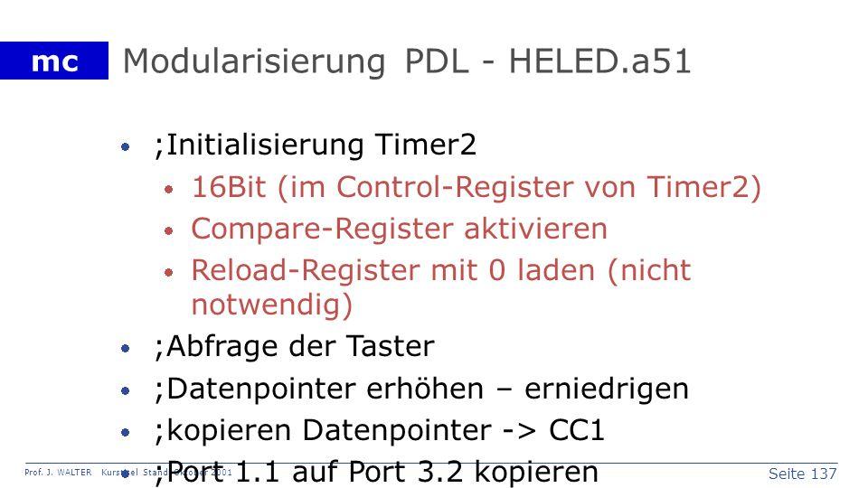 Modularisierung PDL - HELED.a51
